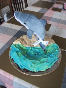 Dolphin cake (dolphin not included in price!)
