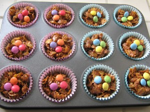 Chocolate cornflake cakes (Gluten-free also available)