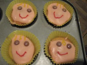 Smiley Face Fairy Cakes