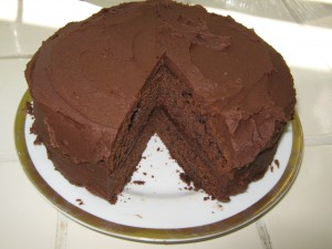 dark chocolate cake (with a hint of coffee)