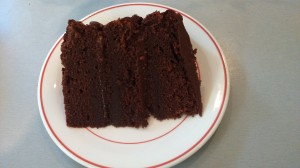 Mile High Chocolate Cake (single slice): triple layer chocolate cake £20 (serves 16)