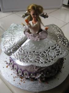 Sponge Cake with doll