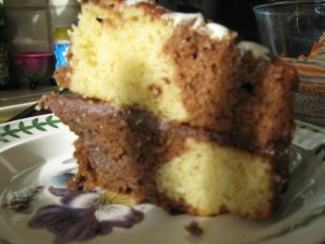 Chocolate Marble Cake (see Large Cakes)